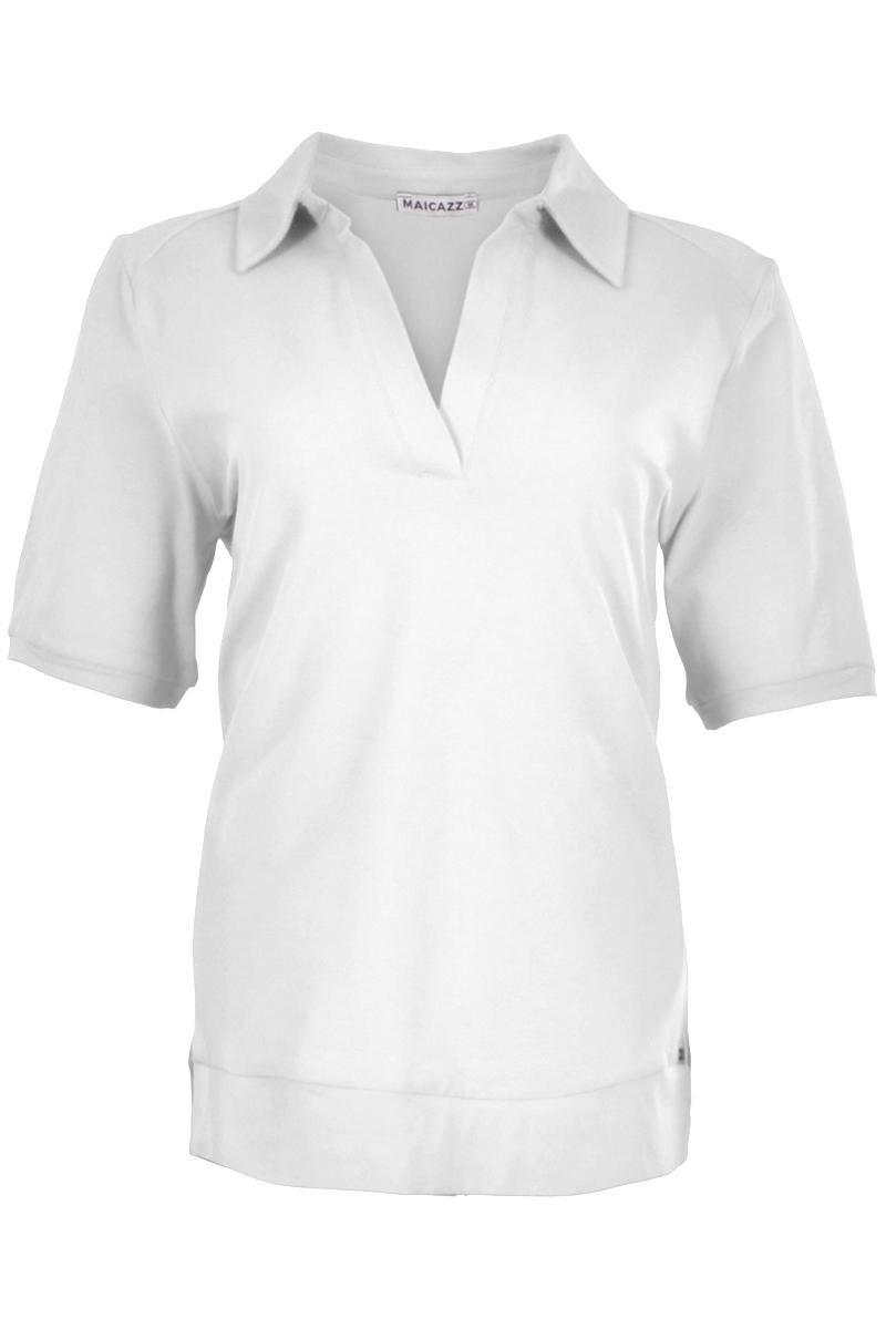 T shirt met een polokraag sluiting