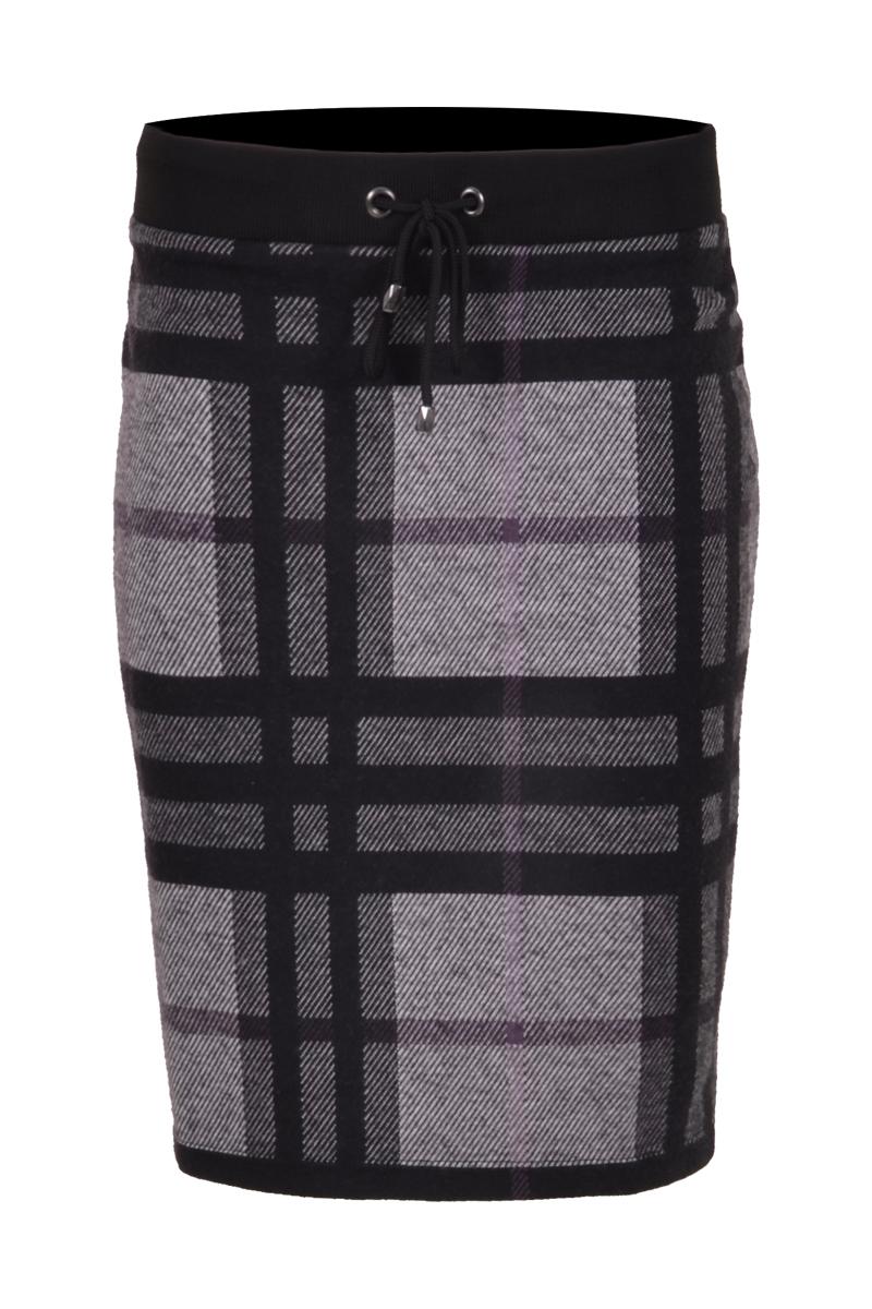 jacquard gebreide rok met een elastiek tailleband.