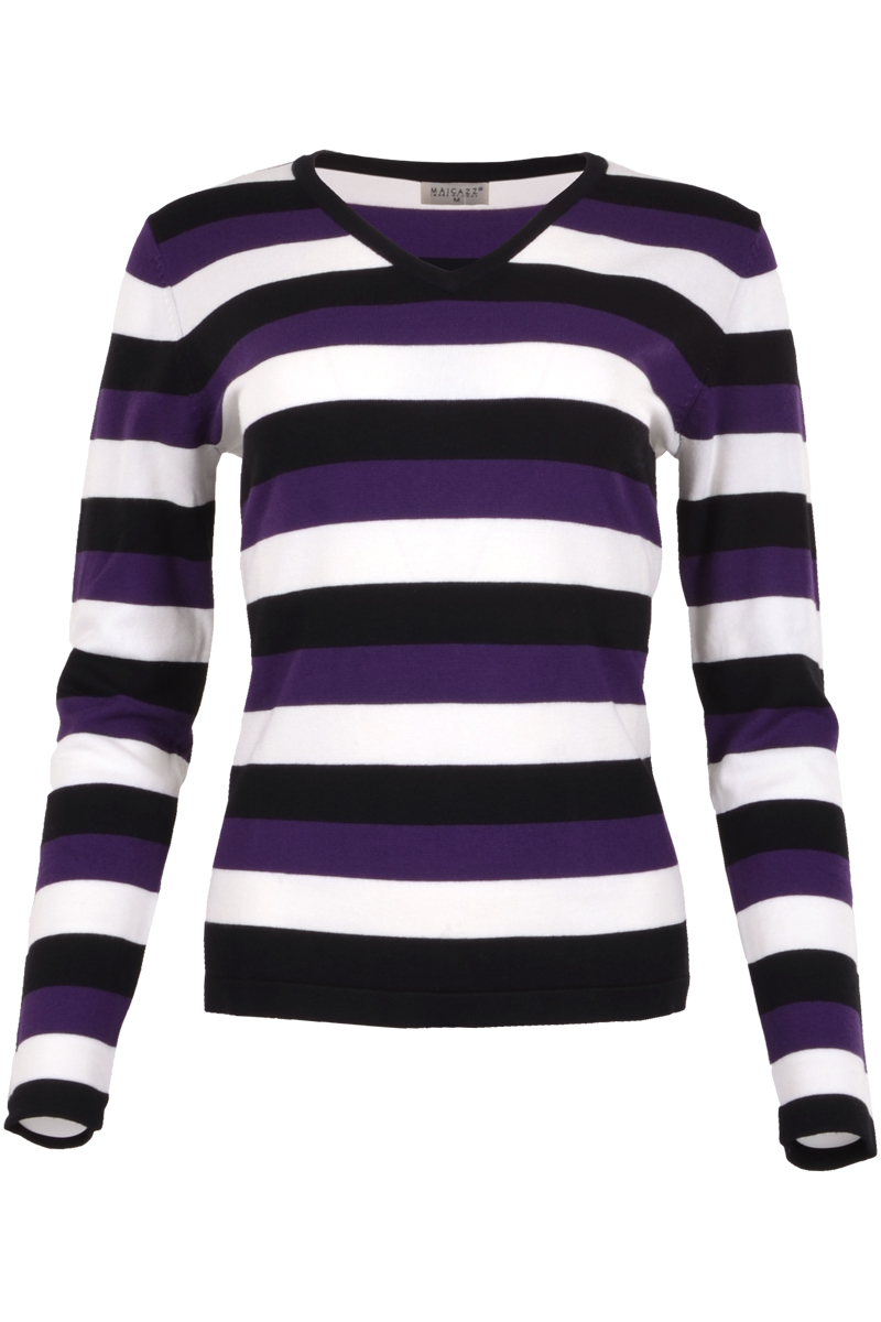 Pullover met v neck en long sleeve