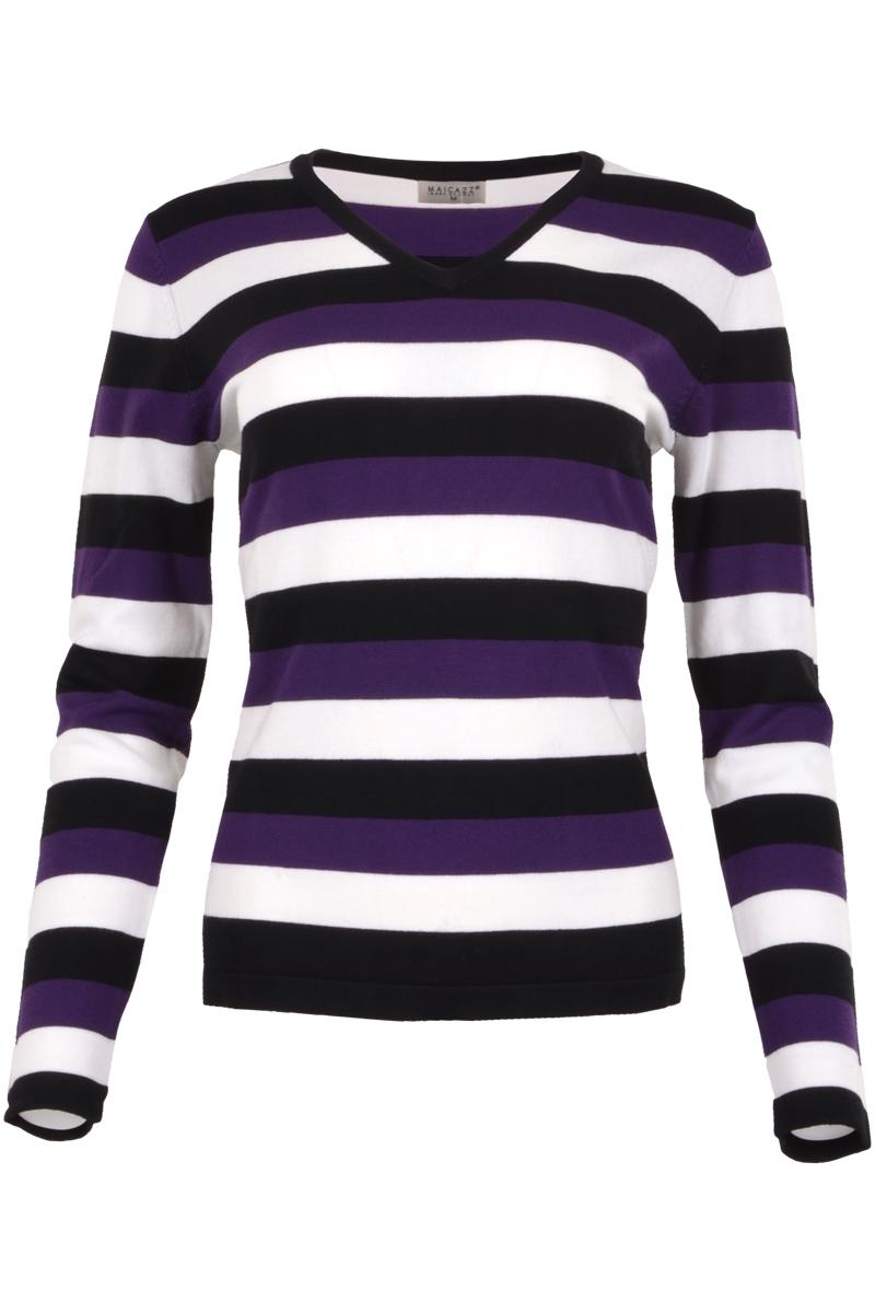 Pullover met v neck en long sleeve