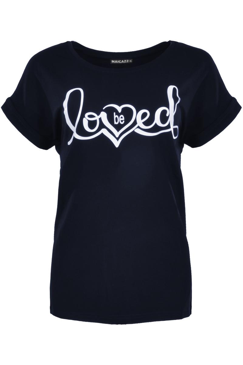 T-shirt met loved print.