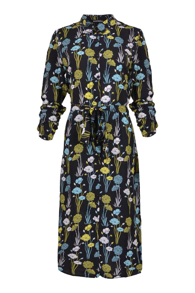 Lange jurk van 100% viscose materiaal.