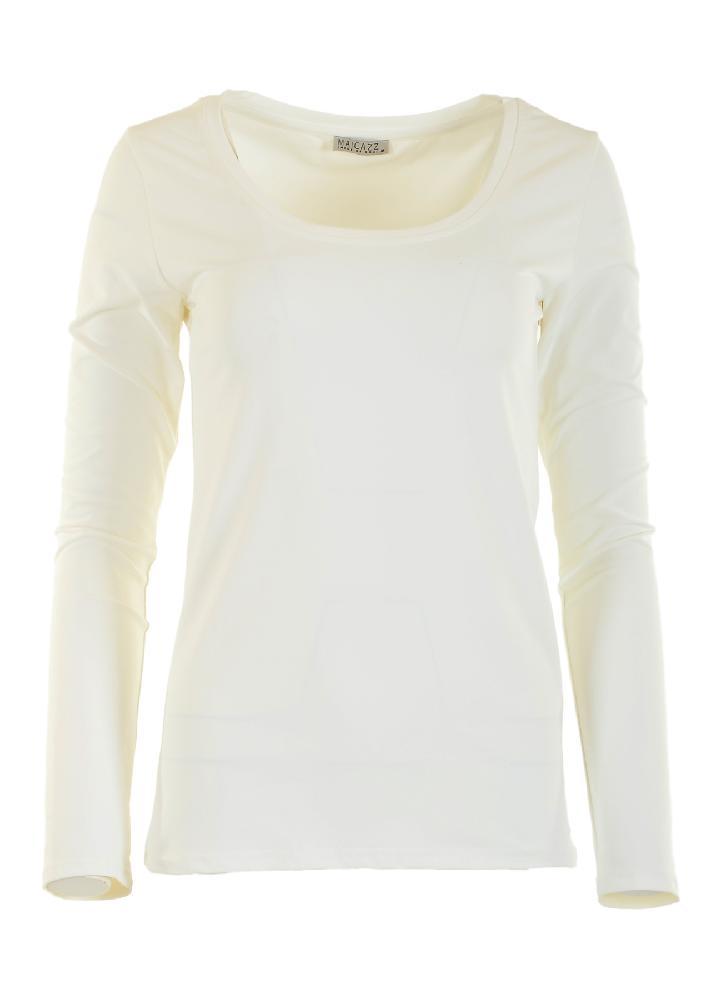 T-shirt met lange mouwen en ronde hals. Gemaakt van mooie elastiche kwaliteit. pasvorm : aansluitend