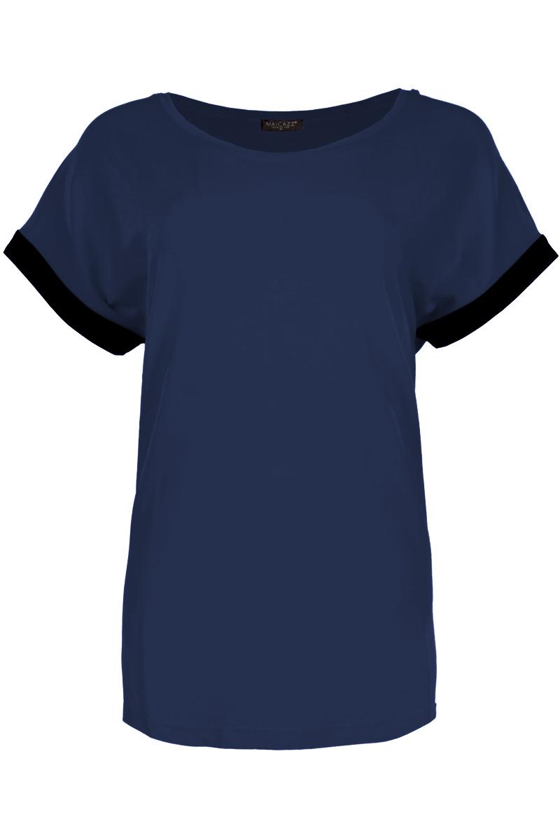 Wijd uitvallende T-shirt met een mooie tone sur tone print.