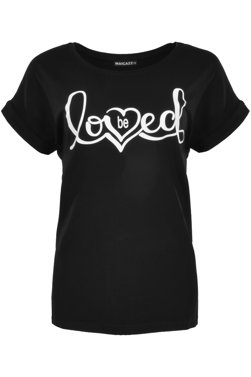 T-shirt met loved print.