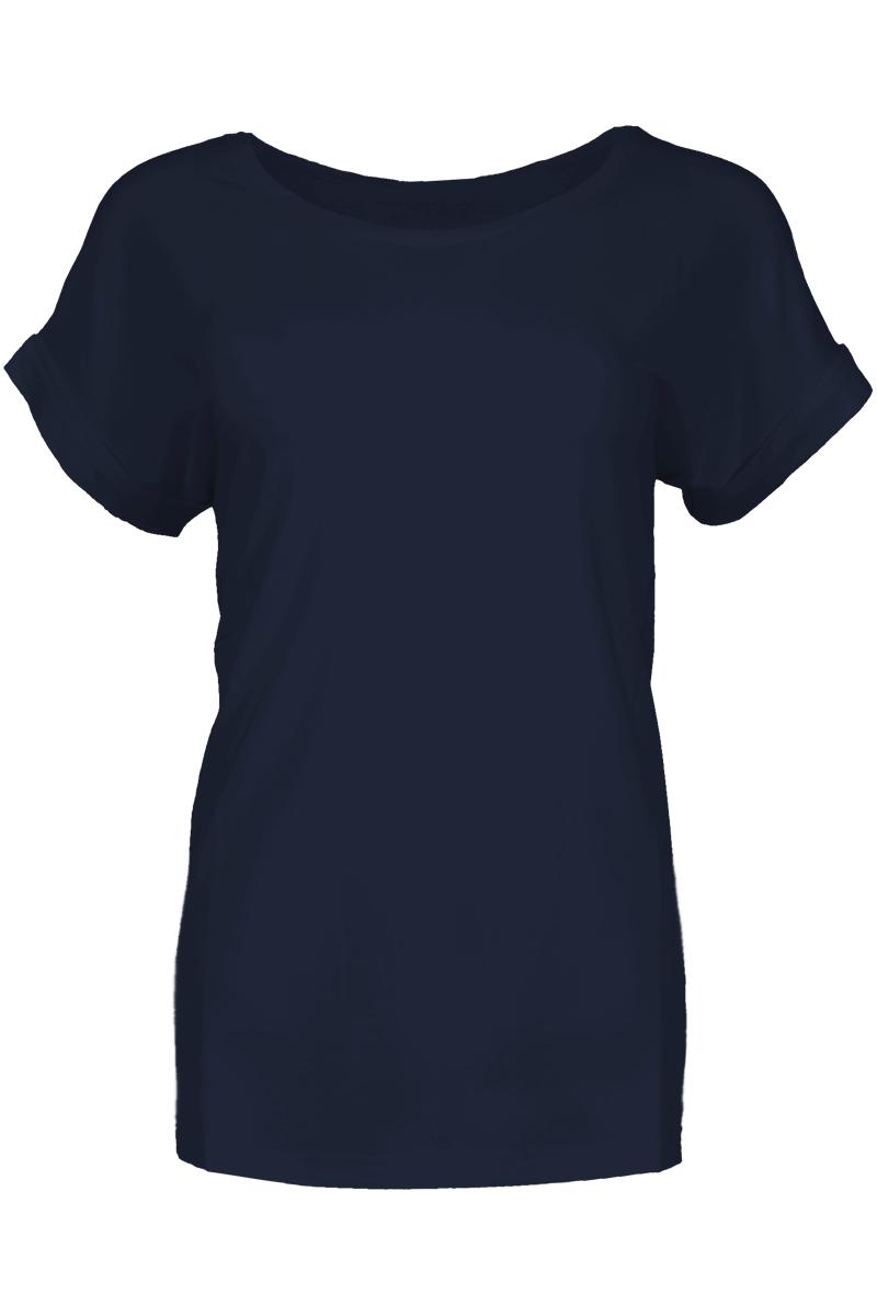 T-shirt met ronde hals.