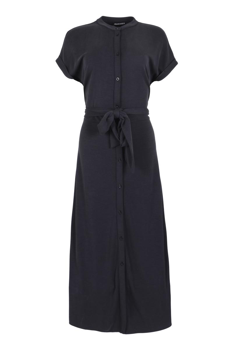 doorknoop jurk  in linnenlook