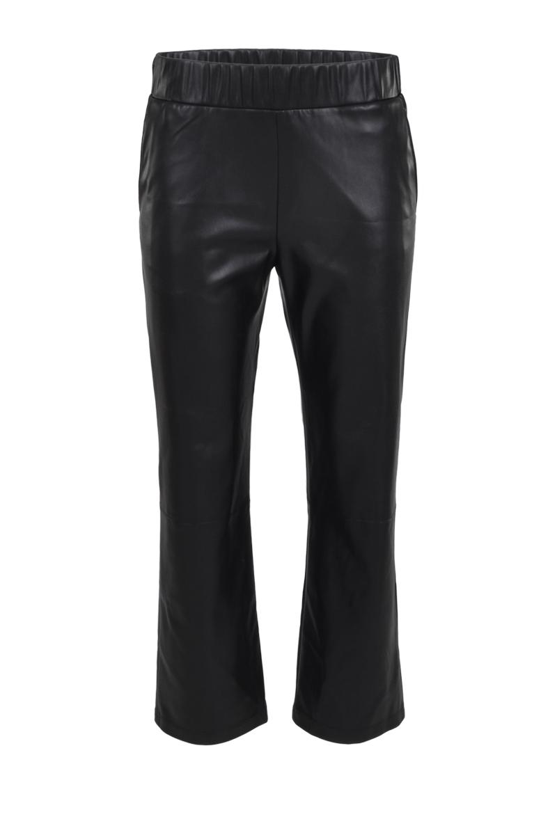 Vegan Leather  Broek met binnenbeen lengte van 26 inch. De achterband van de broek is elastisch