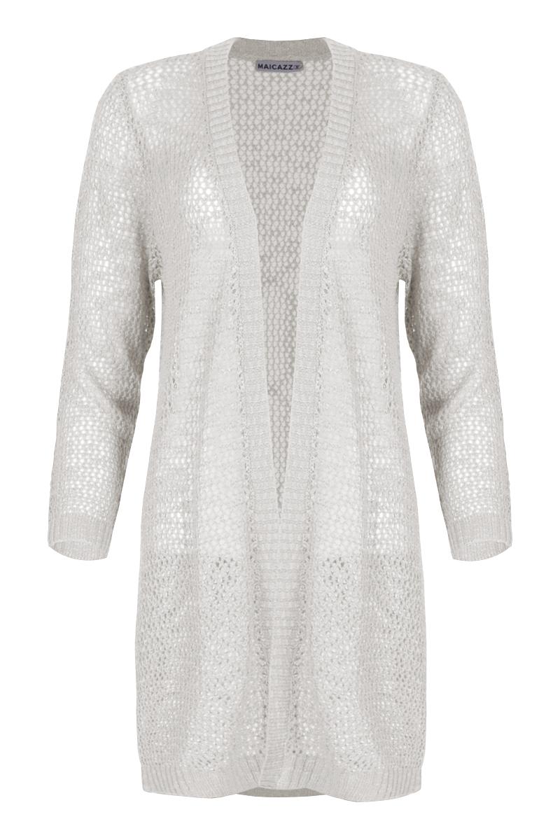Vest Tru (zomercollectie 2021) is een gebreid vest gemaakt van Viscose kwaliteit. Het vest is lang en heeft lange mouwen en een openvallende hals. Het kledingstuk is mooi afgewerkt met ribboorden. Tru heeft een losse pasvorm en is licht transparant. Vest Tru valt normaal qua maat en is verkrijgbaar in het Offwhite en Sand.    <ul> <li>Lange mouw</li> <li>Gebreid</li> <li>Openvallende hals</li> <li>Losse pasvorm</li> <li>Afgewerkte zomen</li> <li>Licht transparant</li> <li>Valt normaal qua maat</li> <li>Model Tru</li> <li>Zomercollectie 2021</li> <li>Viscose kwaliteit</li> <li>Verkrijgbaar in het Offwhite en Sand.</li> </ul>    <blockquote> Musthave voor een nonchalante en tegelijkertijd elegante stijl. </blockquote>