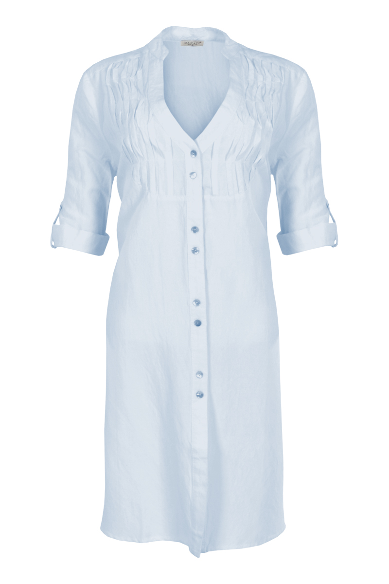 Linnen blouse met lange mouw en roessels voor