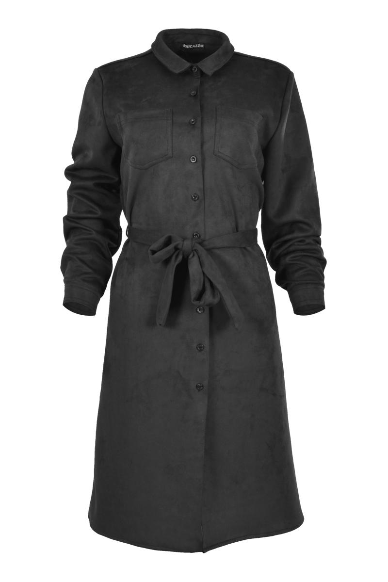 Lange jurk/blouse model met lange mouwen.
