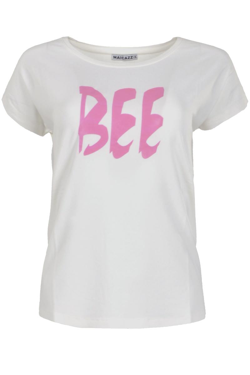 T-shirt met een contrasterend feather print.